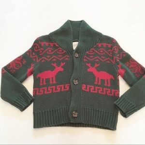 Peek reindeer cardigan sweater